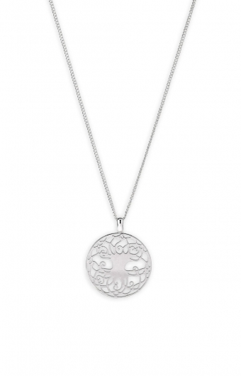 Collier - COIN YGGDRASIL ARGENT