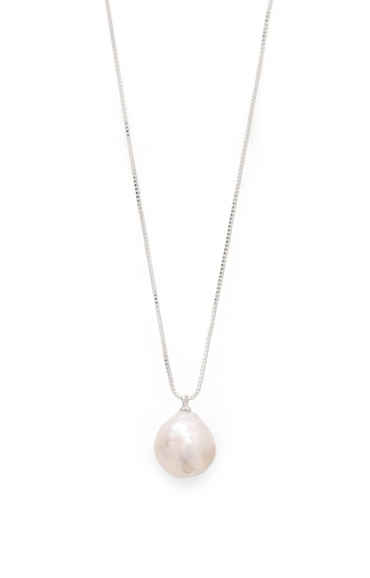 Collier - PEARL AMA ARGENT