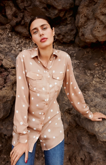 Blouse - WARM TAUPE MIX