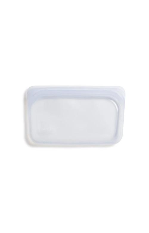 Sac à collation en silicone transparent blanc