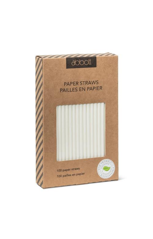 Pailles en papier blanches - ABBOTT