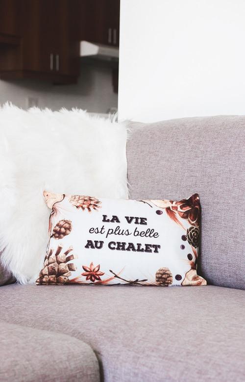 Coussin - LA VIE EST PLUS BELLE AU CHALET