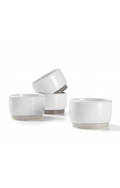 Ensemble de 4 moyens ramequin en céramique