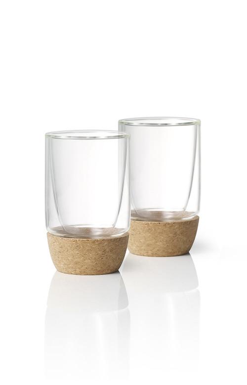 Ensemble de 2 verres à parois doubles