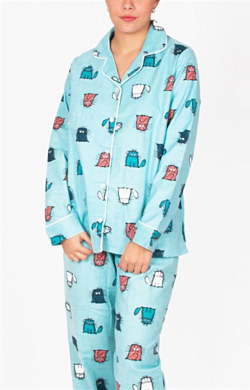 Pyjama en flanelle - CHATS ÉBOURIFFÉS
