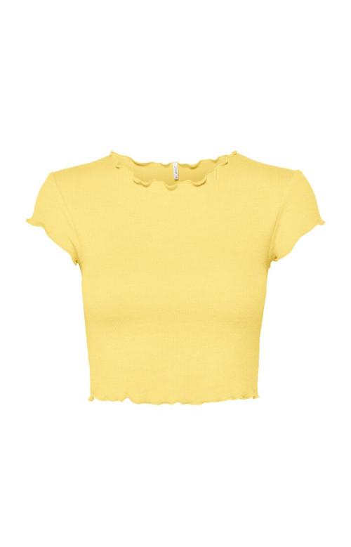 T-shirt - RIB CROPPED TOP