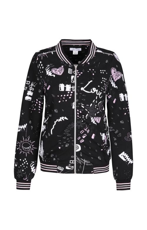Bomber jacket - I LOVE PINK