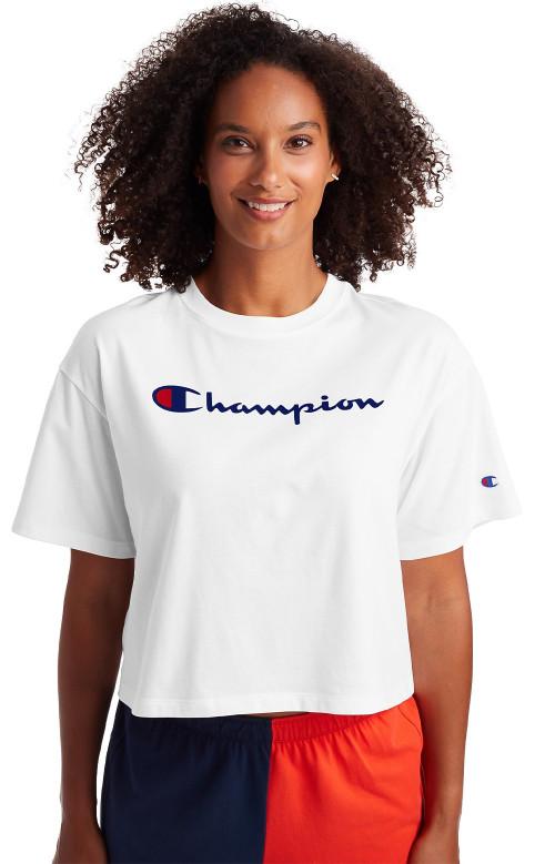 T-shirt crop - SCRIPT LOGO