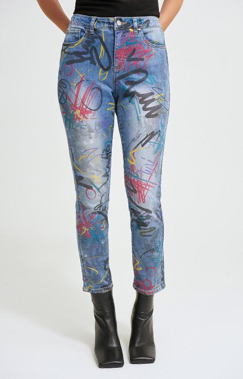 Jeans - MULTI GRAFFITI