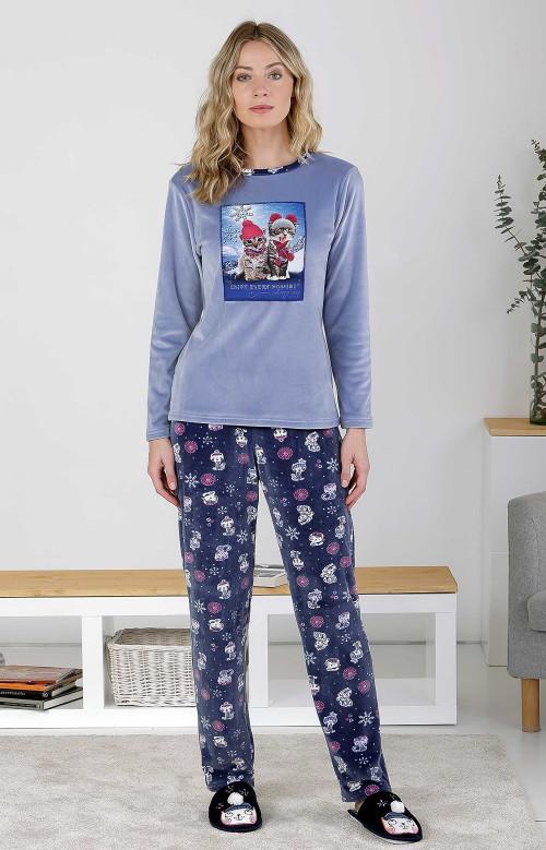 Pyjama à pantalon long - FESTIVE KITTIES