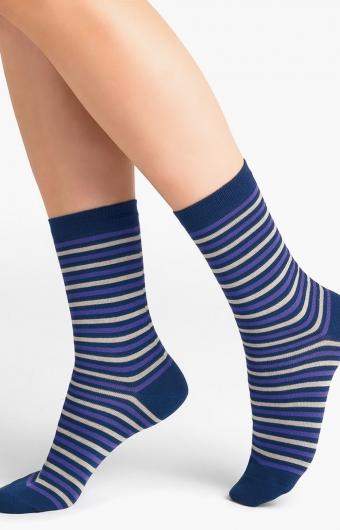 Chaussettes micromodal cachemire - RAYÉES