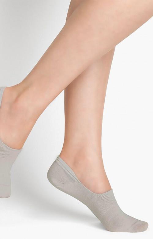 Duo protège-pieds de coton uni