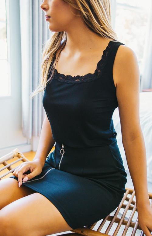Camisole noire - MELANIE