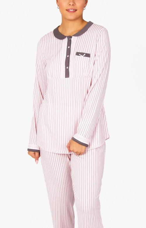 Pyjama à pantalon long - COL CLAUDINE