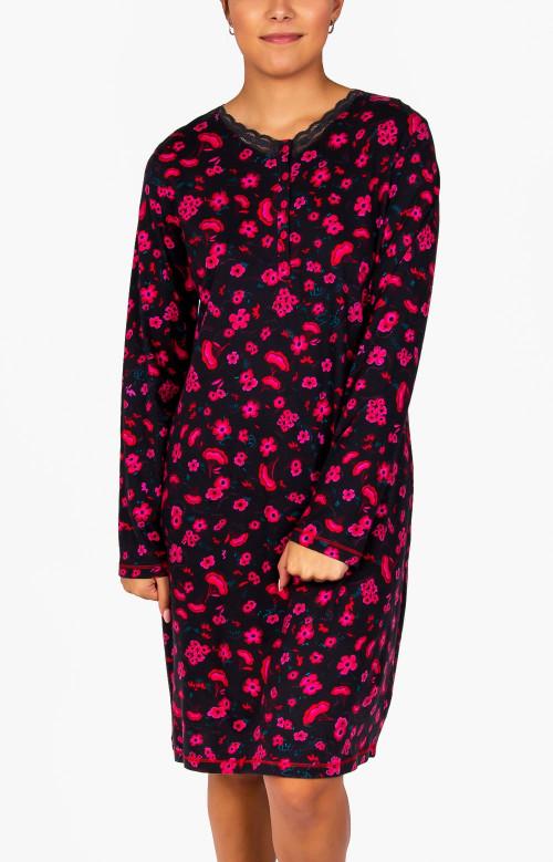 Robe de nuit courte - ROSES ROUGES
