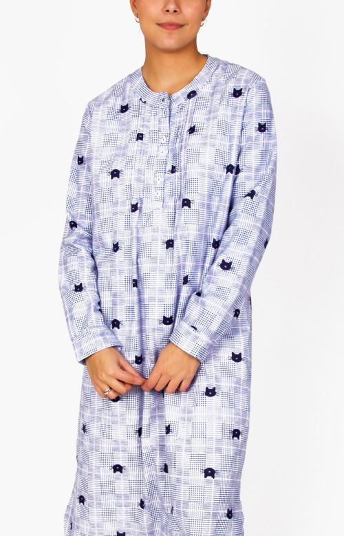 Robe de nuit en flanelle - CHATOUILLES