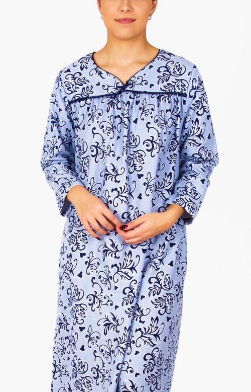 Robe de nuit en flanelle - TENDANCE FLORALE