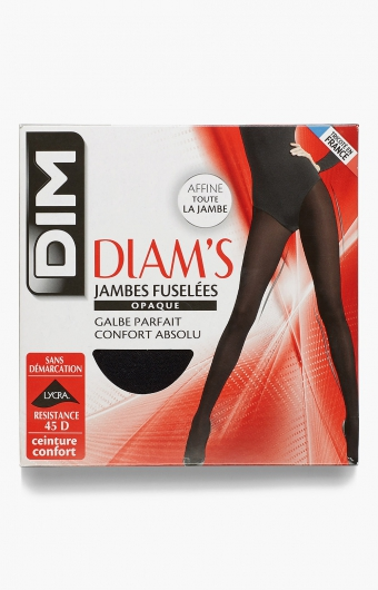 Collant jambes fuselées opaques noirs